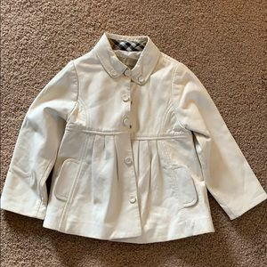 Burberry toddler size 3 leather jacket